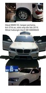 Jual X series: bmw x3 x drive panoramik