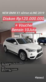 Jual X series: GRATIS BENSIN THE NEW BMW X1 SDRIVE XLINE 18I NIK 2019