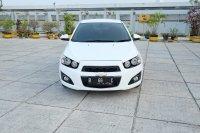 Dijual chevrolet Aveo LT 2014 Putih AT mobil mulus antik gress dp 37jt