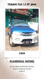 Jual Daihatsu Taruna FGX 1.5 Manual Tahun 2004 Biru Metalik