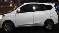 Jual Datsun Go+ Panca 2016 mulus putih velg racing R15 audio kenwood