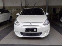 Mitsubishi Mirage 2014 Dijual, Gls AT Putih, mobil bekas Dki Jakarta