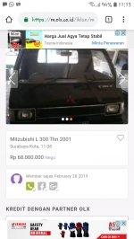 Colt L300: Mitsubishi L 300 thn 2001 (Screenshot_20190228-111351_Chrome.jpg)