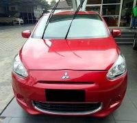 Jual Mitsubishi Mirage 2013 merah tipe Gls AT