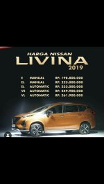 Jual Nissan New Livina VE MT