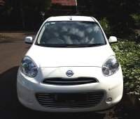 NISSAN MARCH XS AT 2012/2013 Putih Tgn 1 Km 45 Rb (Depan Full.jpg)