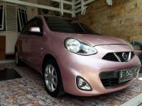 Jual Nissan March Pink 1.2 AT HI 2014 akhir km<53rb 110jt