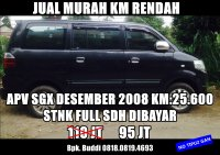 Suzuki Arena: Jual MURAH, APV SGX 2008 KM Rendah. (MEME 3.jpg)