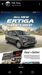 Jual Suzuki: ALL NEW ERTIGA MPV CAR FOR FAMILY