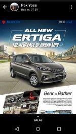 Jual Suzuki: ALL NEW ERTIGA MPV CAR FOR FAMILY