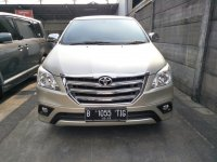 Jual Toyota: Innova G MT 2.0 bensin Th 2014 silver.  Siap pakai