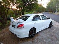Jual Toyota vios putih modif, DK 1832, AC dingin, tahun 2011, pajak hidup,