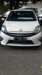 Jual Toyota Agya, putih, G/AT 2014, tgn 1, STNK Jan, KM 18 rb