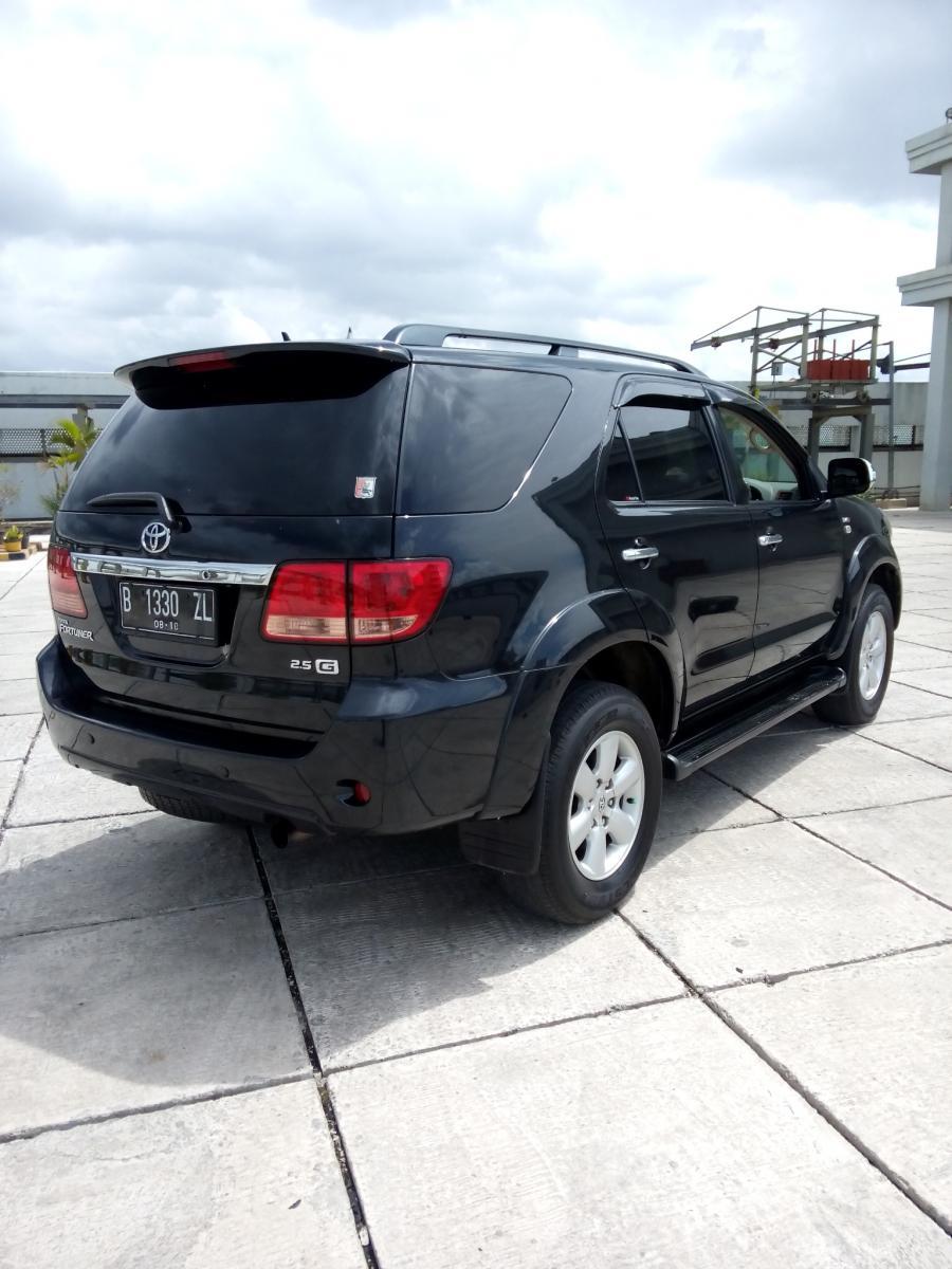 toyota fortuner g diesel 2.5 manual hitam 2008 - mobilbekas
