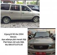 Jual Toyota: Kijang kf83 th. 2004 bensin terima plat AD solo