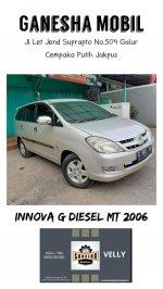 Jual Toyota Innova G 2.5cc Manual Diesel Tahun 2006 Silver Metalik