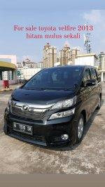 Jual Vellfire: Toyota velfire 2013 hitam top condition