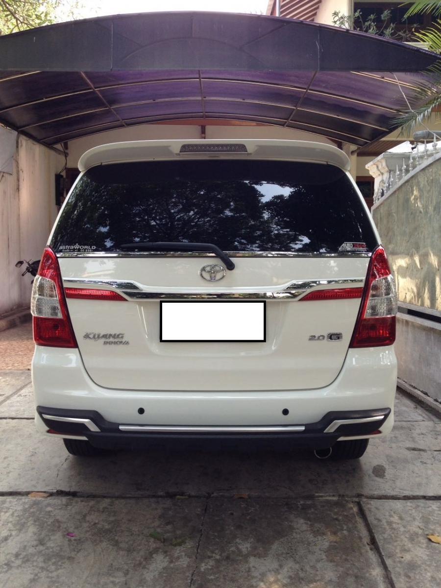 mobil dijual innova type g a t tahun 2014   mobilbekas