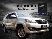 Jual Toyota Fortuner G, Pemilik langsung, Th 2012