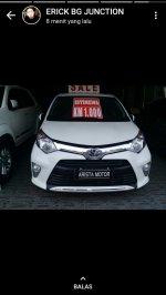 Jual Toyota: Calya G 2017 AT putih Km 1000 Asli